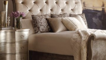 Upholstered beds can add such a lovely soft element of enchantment and romance to any room.  Let our design staff help you create your haven at Alderman Bushé Interiors.